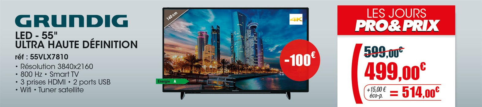 TV LED Grundig 55VLX7810BP